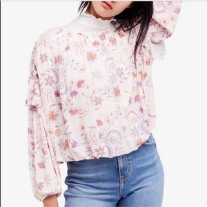 Free People Wildflower Honey Ruffle Top